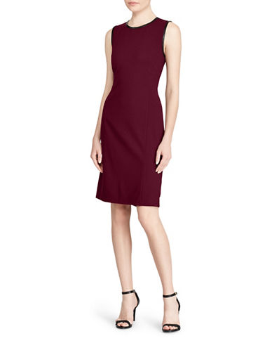 Lauren Ralph Lauren Ponte Sheath Dress-RED-Large