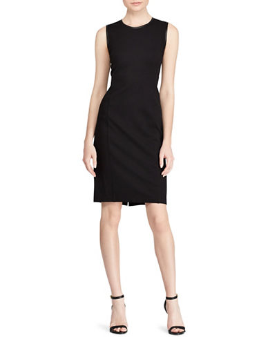 Lauren Ralph Lauren Ponte Sheath Dress-BLACK-X-Small