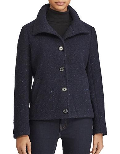 Lauren Ralph Lauren Mockneck Buttoned Jacket-NAVY-16 89526782_NAVY_16