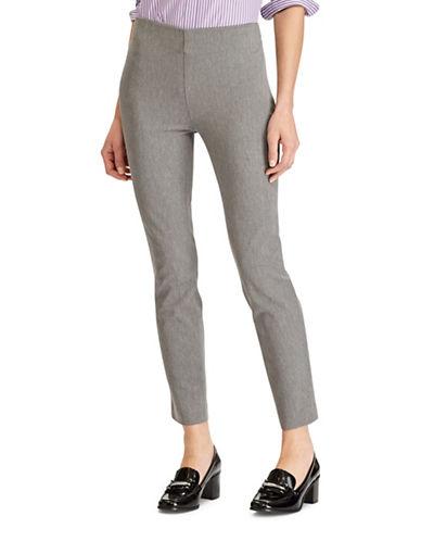 Lauren Ralph Lauren Stretch Twill Skinny Pants-GREY-4