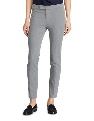 Lauren Ralph Lauren Petite Stretch Twill Skinny Pants-GREY-Petite 10