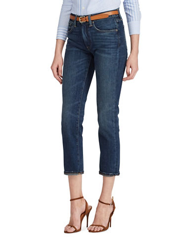 Polo Ralph Lauren Waverly High-Rise Straight Cropped Jeans-BLUE-30