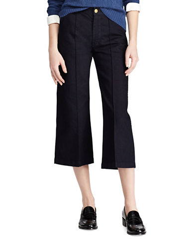 Polo Ralph Lauren Cropped Wide-Leg Jeans-BLUE-28