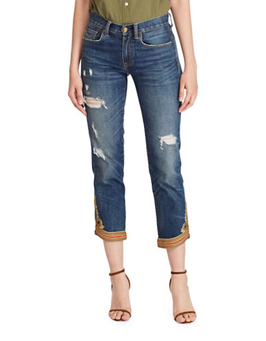 Polo Ralph Lauren Waverly Straight Crop Jeans-BLUE-27