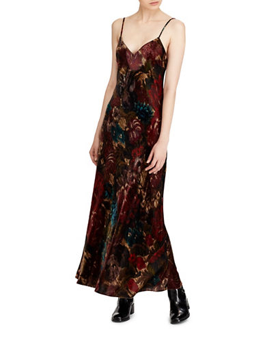 Polo Ralph Lauren Floral Velvet Maxi Dress-FLORAL-6