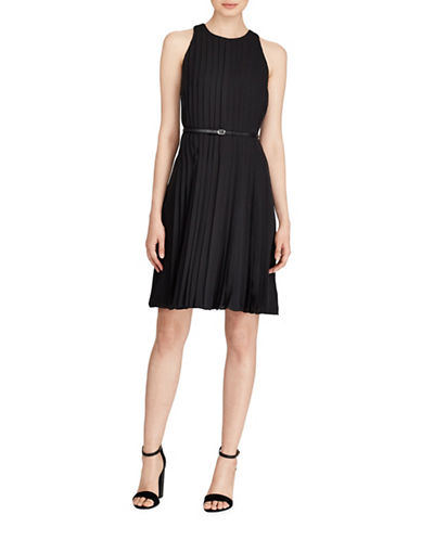 Polo Ralph Lauren Pleated Fit-And-Flare Dress-POLO BLACK-8