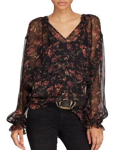 Polo Ralph Lauren Floral Print Blouse-ASSORTED-Large