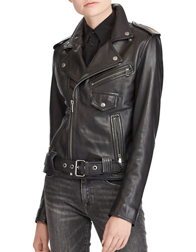 Polo Ralph Lauren Leather Moto Jacket-POLO BLACK-6