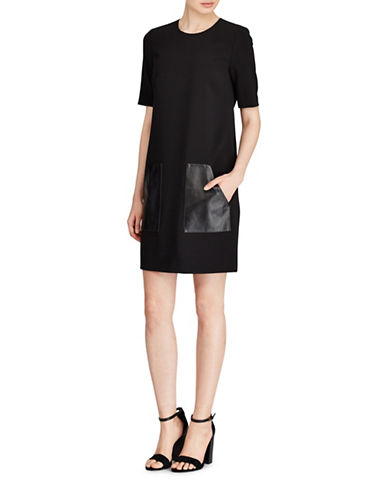 Polo Ralph Lauren Leather Pocket Dress-POLO BLACK-4