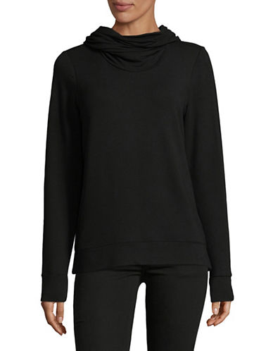 Lauren Ralph Lauren French Terry Funnelneck Top-BLACK-Medium