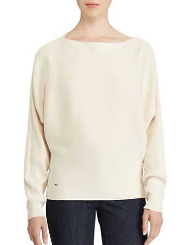 Lauren Ralph Lauren Petite Dolman Sweater-NATURAL-Petite Medium
