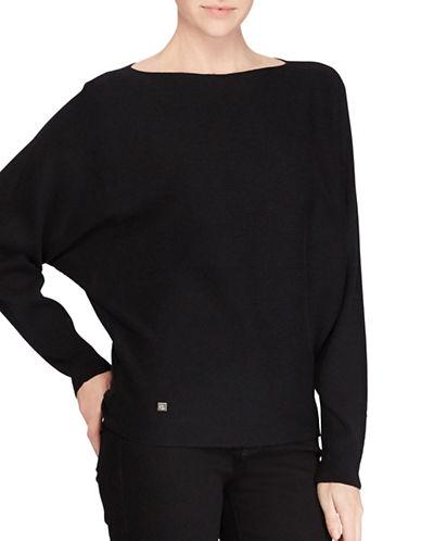 Lauren Ralph Lauren Petite Dolman Sweater-BLACK-Petite Medium