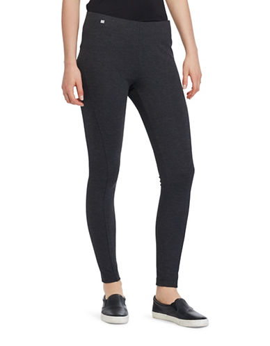 Lauren Ralph Lauren Petite Seamed Ponte Leggings-GREY-Petite Medium