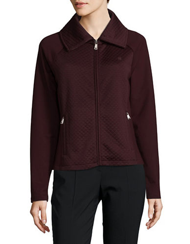 Lauren Ralph Lauren Quilted Stretch Jacket-RED-Large