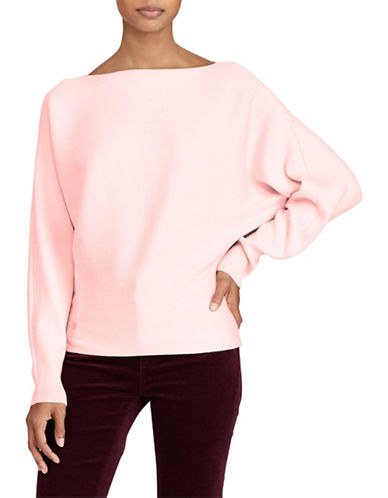 Lauren Ralph Lauren Dolman-Sleeve Sweater-PINK-Medium