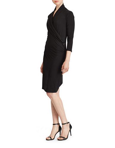 Lauren Ralph Lauren Stretch Jersey Dress-BLACK-X-Large