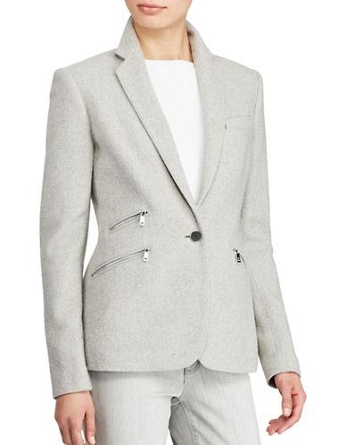 Lauren Ralph Lauren Single-Button Tweed Blazer-GREY-12