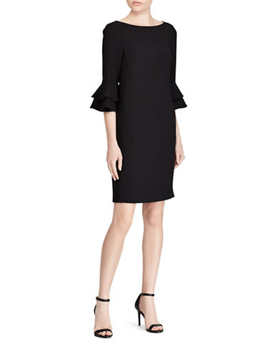 Lauren Ralph Lauren Crepe Bell-Sleeve Dress-BLACK-6