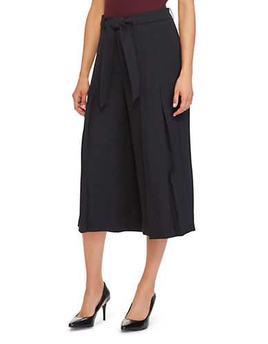 Lauren Ralph Lauren Pleated Wide-Leg Pants-BLACK-8
