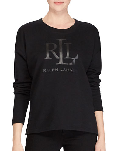 Lauren Ralph Lauren French Terry Sweatshirt-BLACK-Large 89526937_BLACK_Large