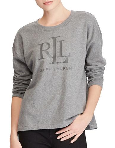 Lauren Ralph Lauren Relaxed-Fit Sweatshirt-GREY-Large