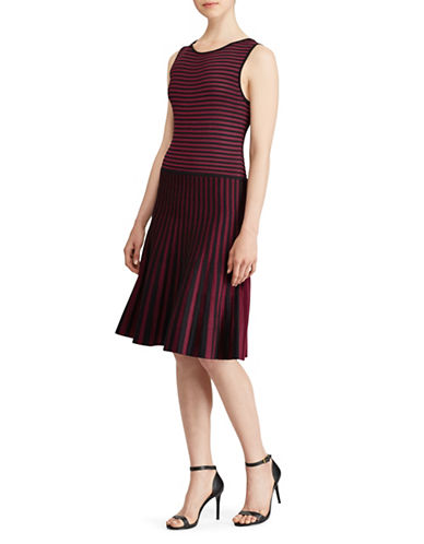 Lauren Ralph Lauren Lysari Fit-and-Flare Dress-MULTI-Small