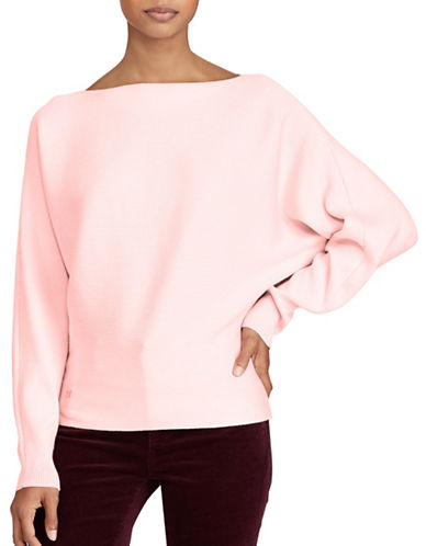 Lauren Ralph Lauren Petite Dolman Sweater-PINK-Petite Large