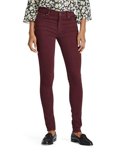 Lauren Ralph Lauren Petite Five-Pocket Skinny Jeans-RED-Petite 14