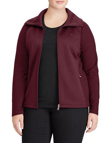 Lauren Ralph Lauren Plus Quilted Stretch Cotton Jacket-RED-2X 89610830_RED_2X