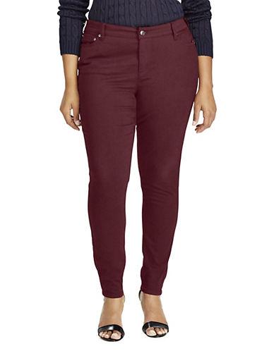 Lauren Ralph Lauren Plus Premier Skinny Jeans-RED-22W