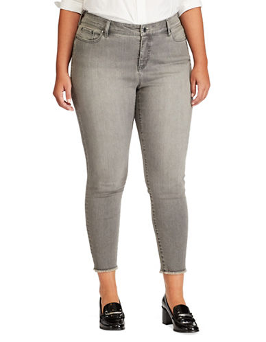 Lauren Ralph Lauren Plus Skinny Cropped Jeans-GREY-16W