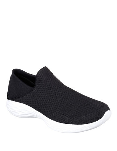 Skechers You Knit Sneakers-BLACK-9.5