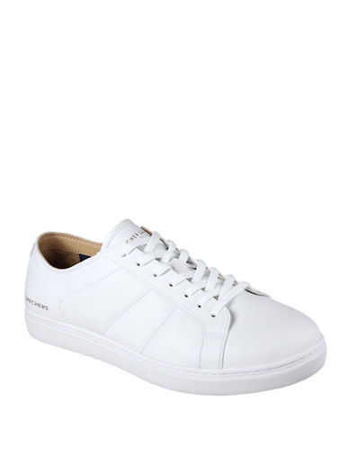 Skechers Venice Leather Sneakers-WHITE-10.5