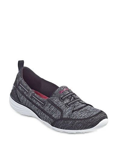 Skechers Womens Unity Classic Fit Boat Sneakers-BLACK-8
