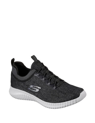 Skechers Mens Elite Flex Hartnell Sneakers-BLACK-9