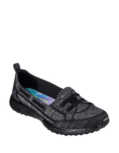 Skechers Womens Microburst Topnotch Sneakers-BLACK-7