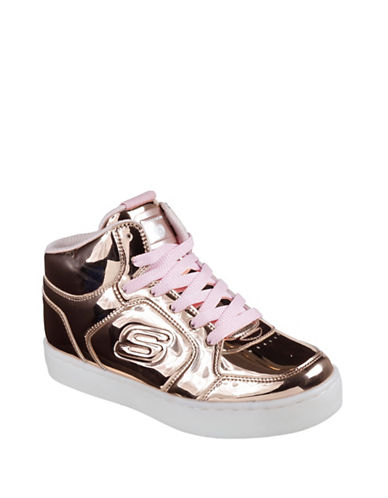 Skechers Energy Lights Metallic Sneakers-PINK-7