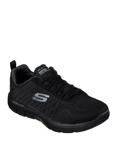 Skechers Mens Flex Advantage 2.0 Low Top Sneakers-BLACK-9.5