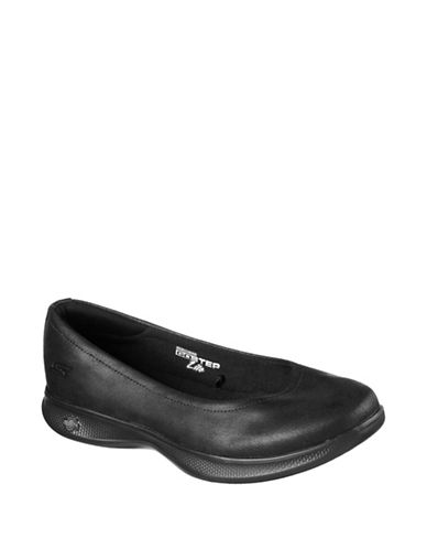 Skechers Go Step Lite Flats-BLACK-7.5