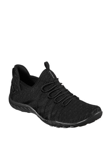 Skechers Womens Breathe Easy Viva City Sneakers-BLACK-7.5