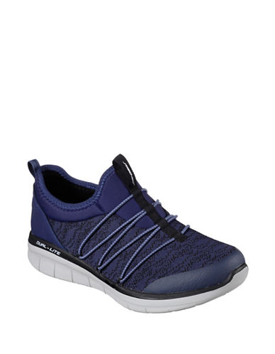 Skechers Synergy 2.0 Simply Chic Bungee Slip-On Sneakers-BLUE-6.5