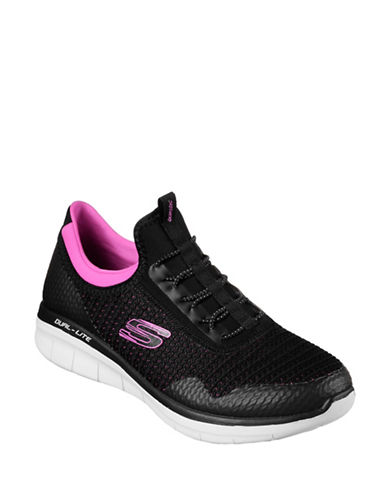 Skechers Womens Synergy Mirror Image Sneakers-BLACK-6.5