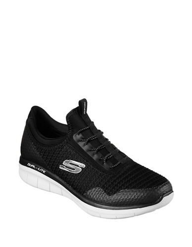 Skechers Womens Synergy Mirror Image Sneakers-BLACK/WHITE-7.5