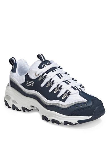 Skechers D-Lites Memory Foam Sneakers-NAVY-9