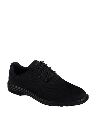 Skechers Walson-Dolen Lace-Up Shoes-BLACK-9.5