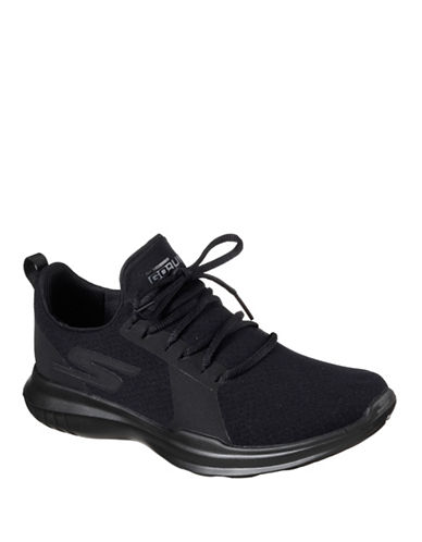 Skechers Go Run 400 Matrix Sneakers-BLACK-7.5