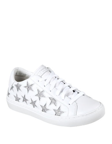 Skechers Rise Fit Streetwear Leather Sneakers-WHITE-7.5