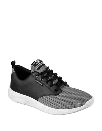 Skechers Lace-Up Sports Sneakers-CHARCOAL-9.5