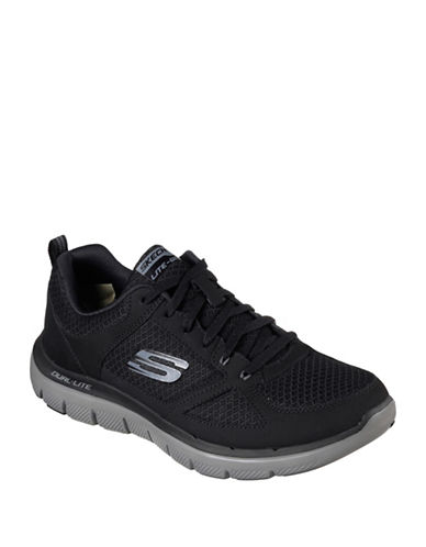 Skechers Mens Flex Advantage 2.0 Athletic Low Top Sneakers-GREY-11