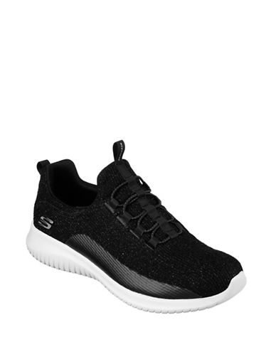 Skechers Womens Ultra Flex Sneakers-BLACK-7.5
